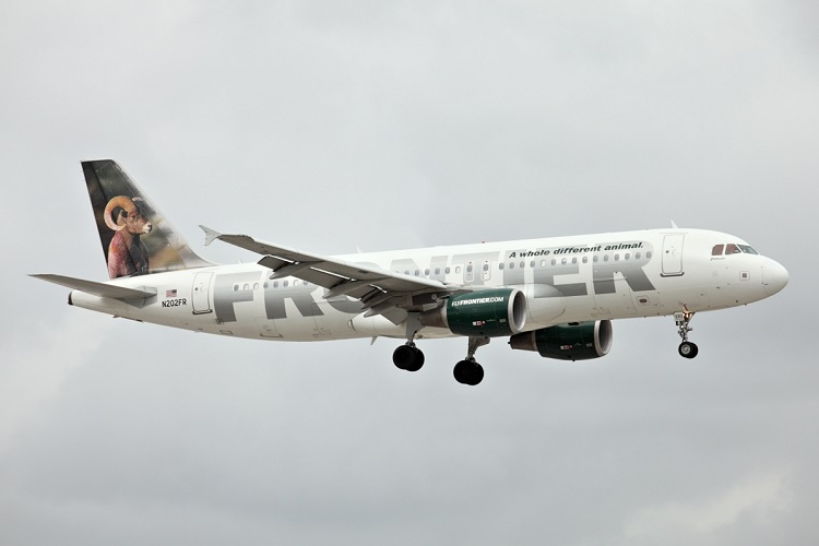 Airbus A320-214, Frontier, registrace N202FR