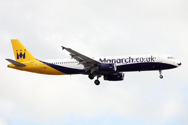Airbus A321-231, Monarch Airlines, registrace G-OZBE