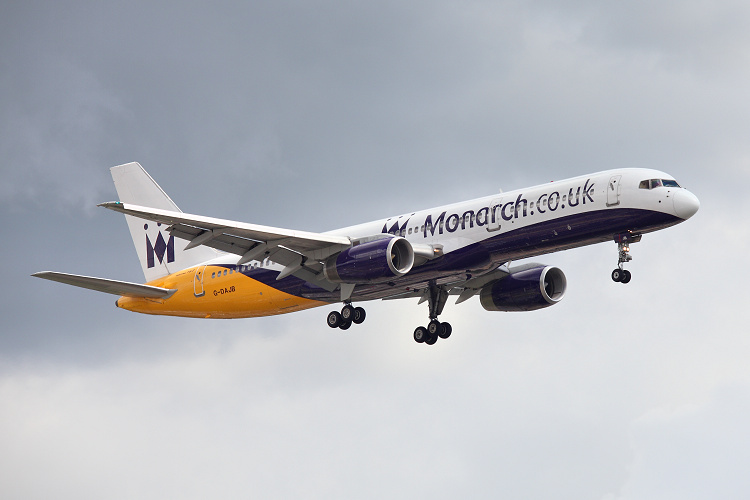 Boeing B757-2T7, Monarch Airlines, registrace G-DAJB