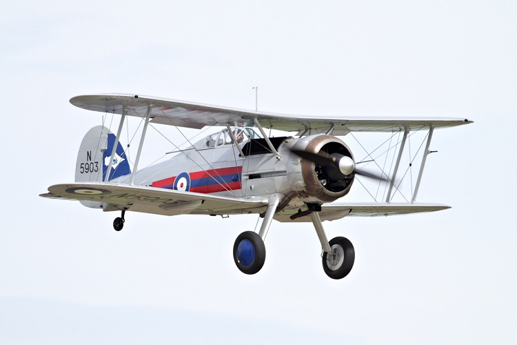 Gloster Gladiator II, The Fighter Collection, registrace G-GLAD/N5903
