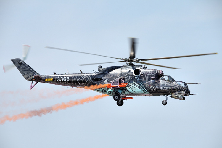 Mil Mi-35, Czech Air Force, registrace 3366 (NATO Tigers livery)